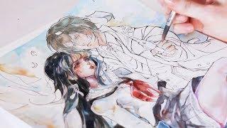 Manga Watercolor Speed Painting - Norn 9