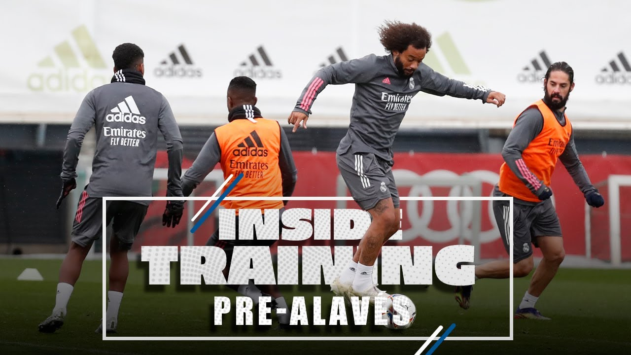 Training in the rain before Alavés clash!