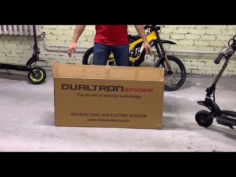 Электросамокат Dualtron Spider 2019!!! (новинка от Minimotors, распаковка и обзор)