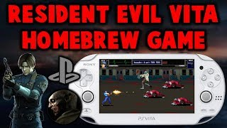 PS Vita Resident Evil Code Vita! Homebrew Game!