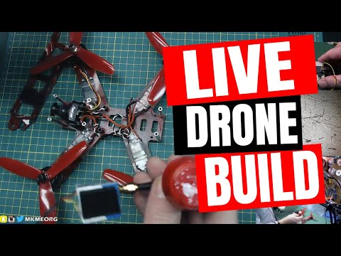 🔴 Live FPV Drone Electronics Assembly/Soldering- Red October Gets a New Brain!