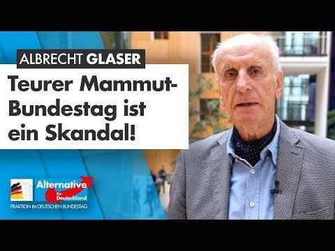 """""""Teurer Mammut-Bundestag ist ein Skandal!"""" - Albrecht Glaser"""