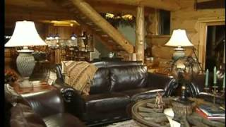 Tour of the Luxurious Log Home in Wisconsin