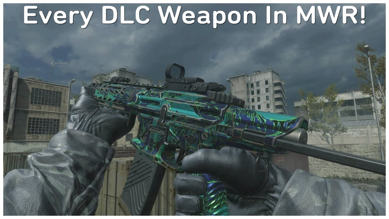 Every DLC Weapon In MWR! - (Modern Warfare Remastered)