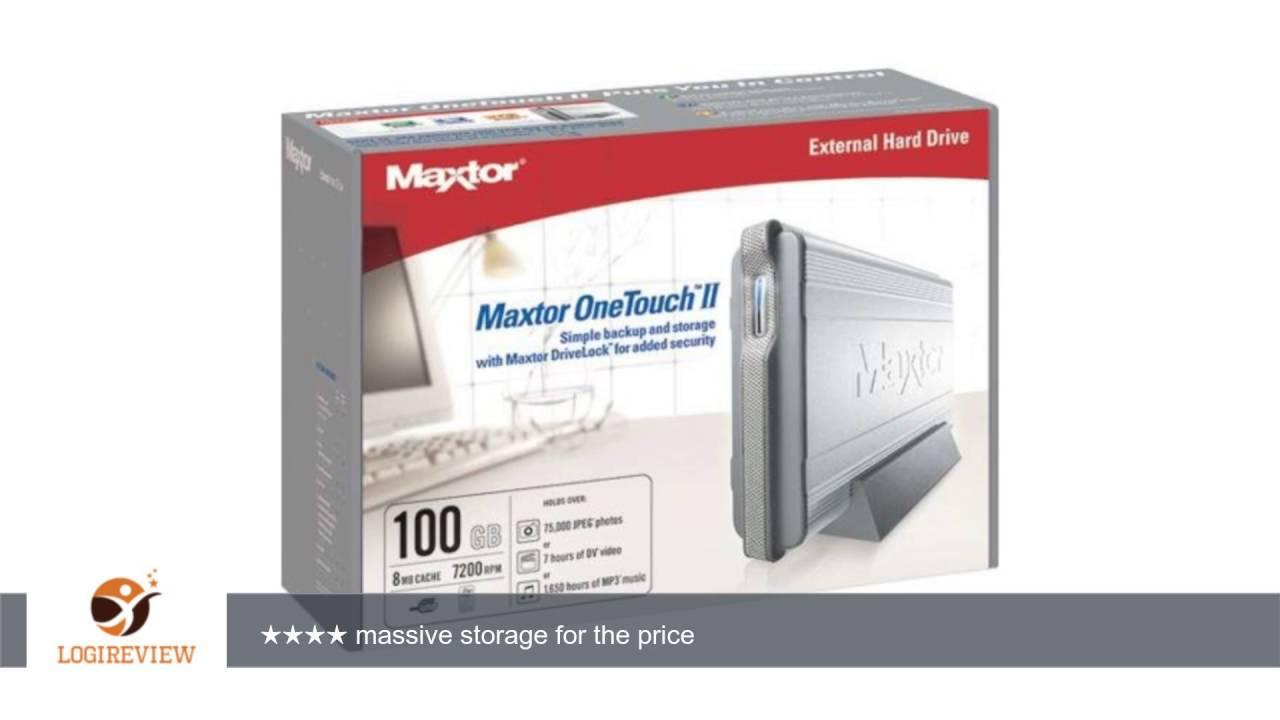 DOWNLOAD DRIVER: MAXTOR 100GB EXTERNAL HARD DRIVE