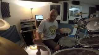 Beneath, Between and Behind - Rush (drum cover) GoPro front view