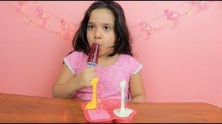 لعبة صنع الايس كريم الحقيقية مع خلاطة و هراسة العاب طبخ بنات و للأطفال Ice Cream Maker