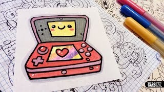 How To Draw a Cute Nintendo 3ds - Easy and Kawaii Drawings by Garbi KW