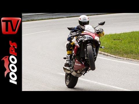 Suzuki GSX-S1000F Test 2016  | Motorrad Quartett | Action, Design, Details