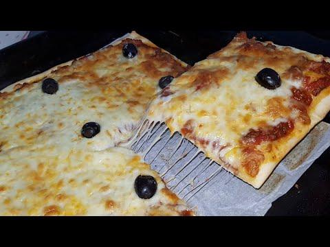 {-recette-ramadan-}-pizza-à-la-viande-hachée-et-au-fromage-/-بيتزا-الجبن-و-لحم-مفروم