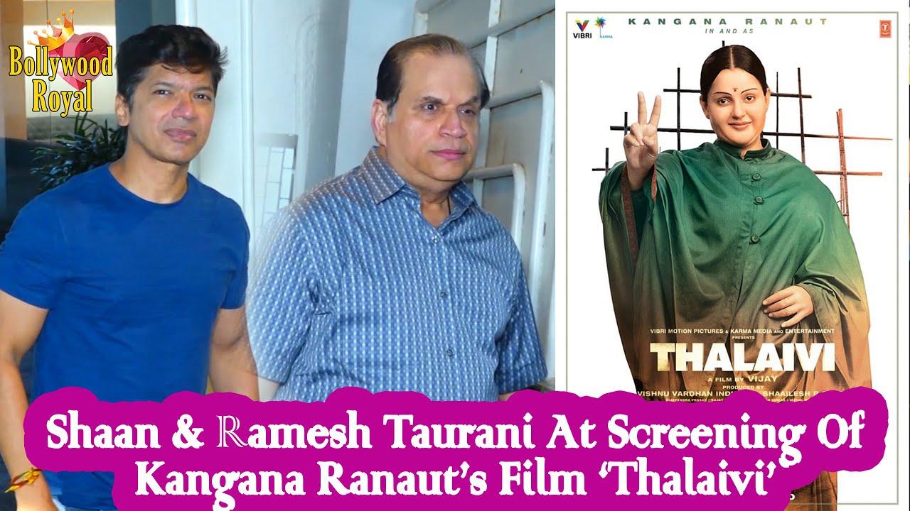 Shaan & Ramesh Taurani At Screening Of Kangana Ranaut's Film 'Thalaivi'