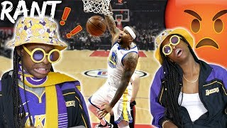 LAKERS FAN REACTS TO DEMARCUS COUSINS WARRIORS DEBUT! MESSAGE TO WARRIORS BANDWAGONS!