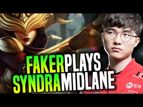 Faker Showing Why Syndra Is One Of The Best Midlaners Right Now! - SKT T1 Faker Playing Syndra