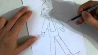 Рисуем быстро и просто.Как нарисовать Кай из сказки Снежная королева(Это видео уроки рисования для детей, с помощью которых можно нарисовать рисунок даже без навыков рисования., 2015-10-26T13:20:59.000Z)