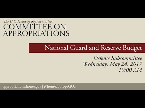 Hearing: National Guard and Reserve Budget (EventID=106000)