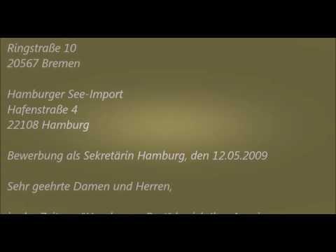 Deutsche Brief A1 A2 B1 Prüfung 9 Bewerbung Schreiben Youtube