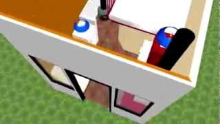 Ultra Tiny House Design Plans. 76 Square Feet.