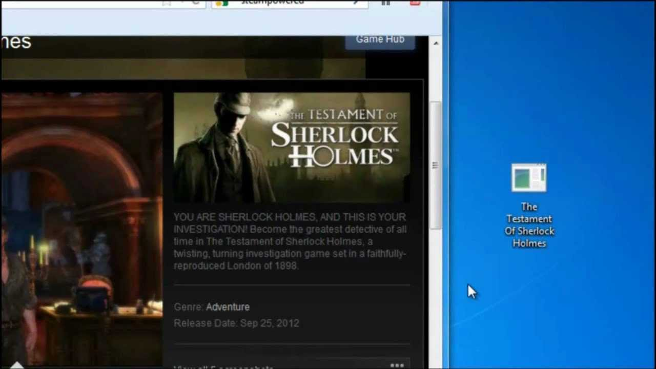The Testament of Sherlock Holmes Free Download PC