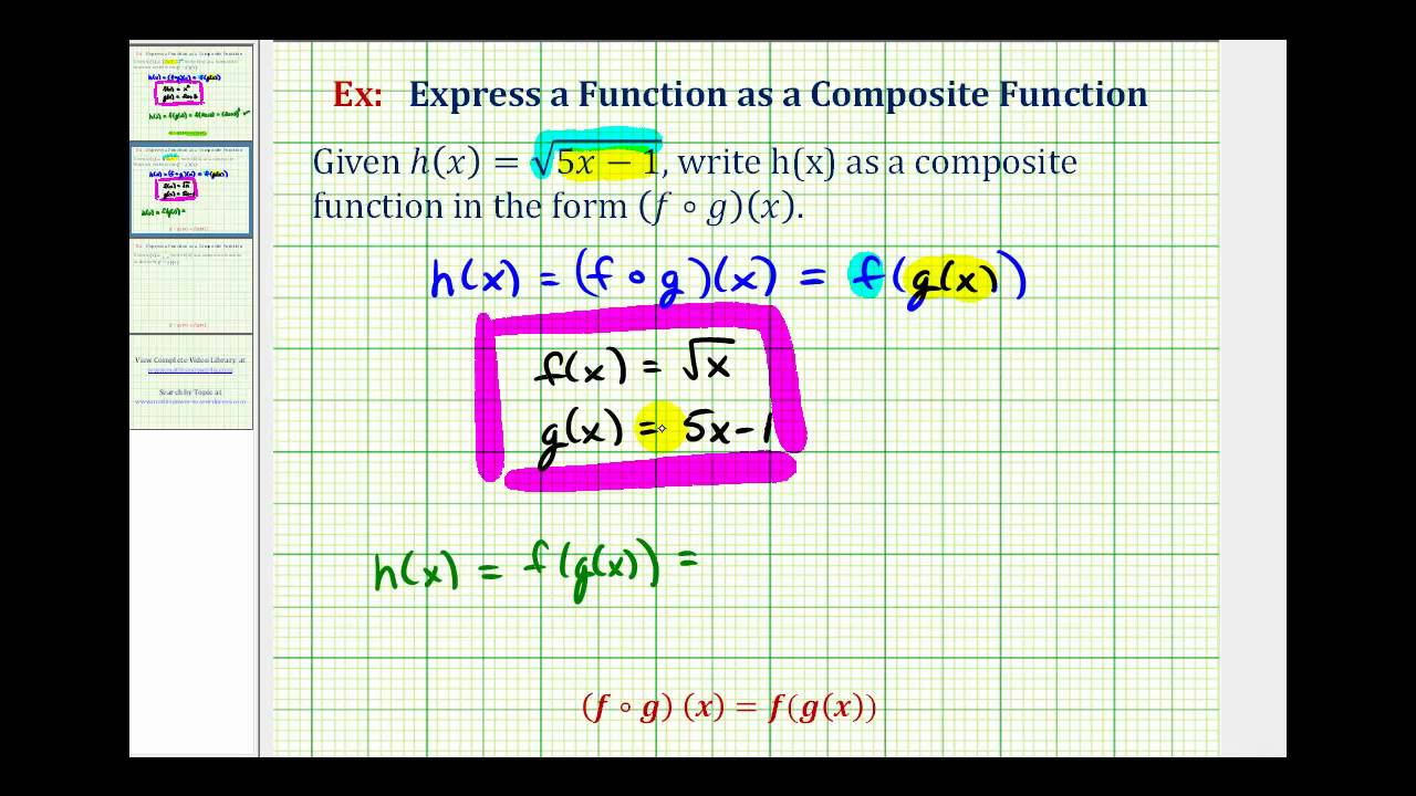 Ex: Decompose Functions - YouTube
