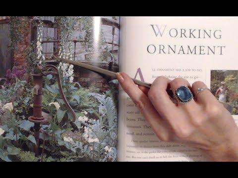 ASMR Soft Spoken ~ Reading Garden Decoration Book w/Pointer