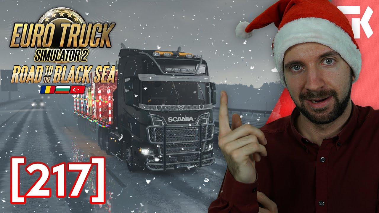 🎄 ZASNĚŽENÉ ROAD TO THE BLACK SEA | Euro Truck Simulator 2 #217 🎄