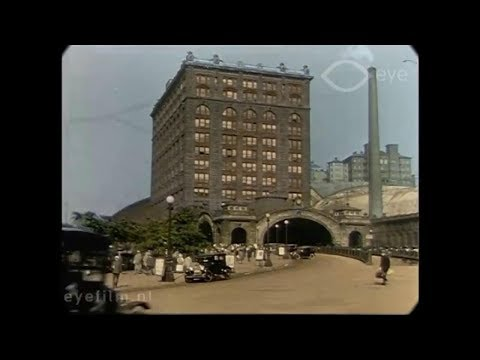 1928 - Hand-Coloured Views of Pittsburgh (speed corrected w/ added sound)