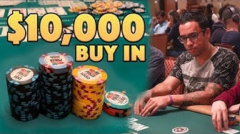 $10,000 BUY IN! WSOP Main Event DAY 1 - Thirst Lounge