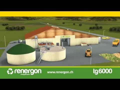Biogas Plant TG6000 - Renergon International AG - Sustainable disposal of bio- and green-waste