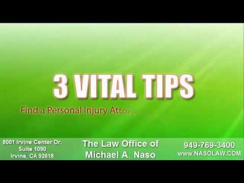 Orange County Personal Injury Attorney 949-769-3400 Naso-Law.com