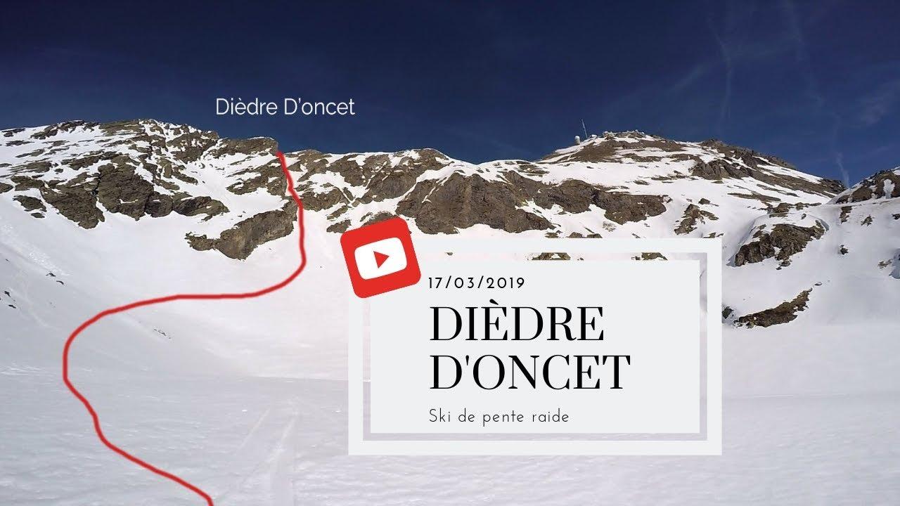 Le Dièdre d'Oncet depuis le Pic du Midi : ski de pente raide