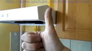 видео Высота вытяжки над газовой плитой: расстояние от плиты до вытяжки, правила установки, как повесить вытяжку на кухне, -инструкция по монтажу