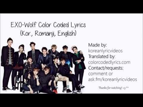 EXO 엑소-Wolf  (늑대와 미녀) Lyric Video (Kor. Ver) (Korean, Romanization, English)