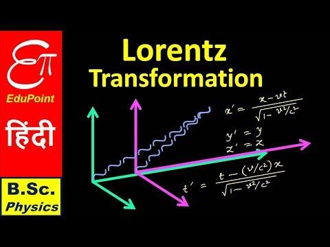🔴 LORENTZ TRANSFORMATION  || Sp. Relativity Part 3 || in HINDI