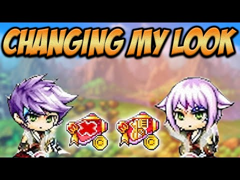 Maplestory: Changing My Hair And Face With Maplehood Event