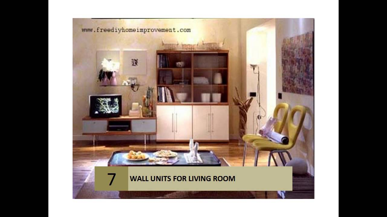 living room furniture wall unit - youtube