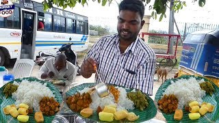 Cheapest Roadside Unlimited Meals | Indian Street food #Streetfood