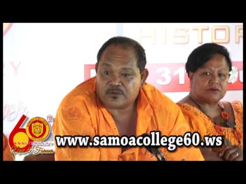 PRESS CONFERENCE : Launching of Samoa College 60th Anniversary Part 2