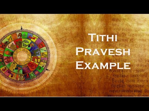 Tithi Pravesh Example - California Vyasa SJC Class 10.08.2006