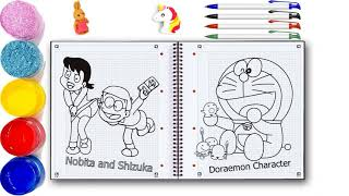 When Nobita in Shizuka w Bath  Funny Draw and Coloring Doraemon Character