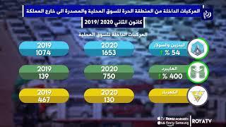 نشاط في حركة المركبات من المنطقة الحرة بالزرقاء خلال الشهر الأول من العام الحالي - (10/2/2020)