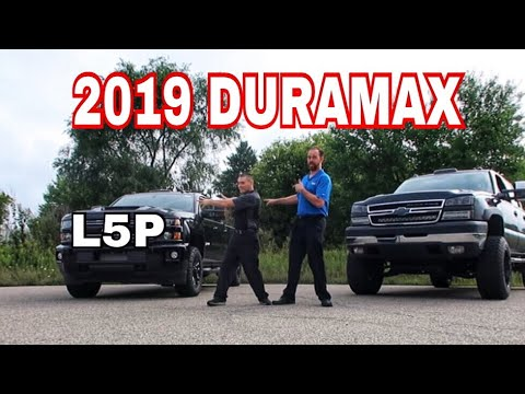Good look at the 2019 Silverado L5P Duramax