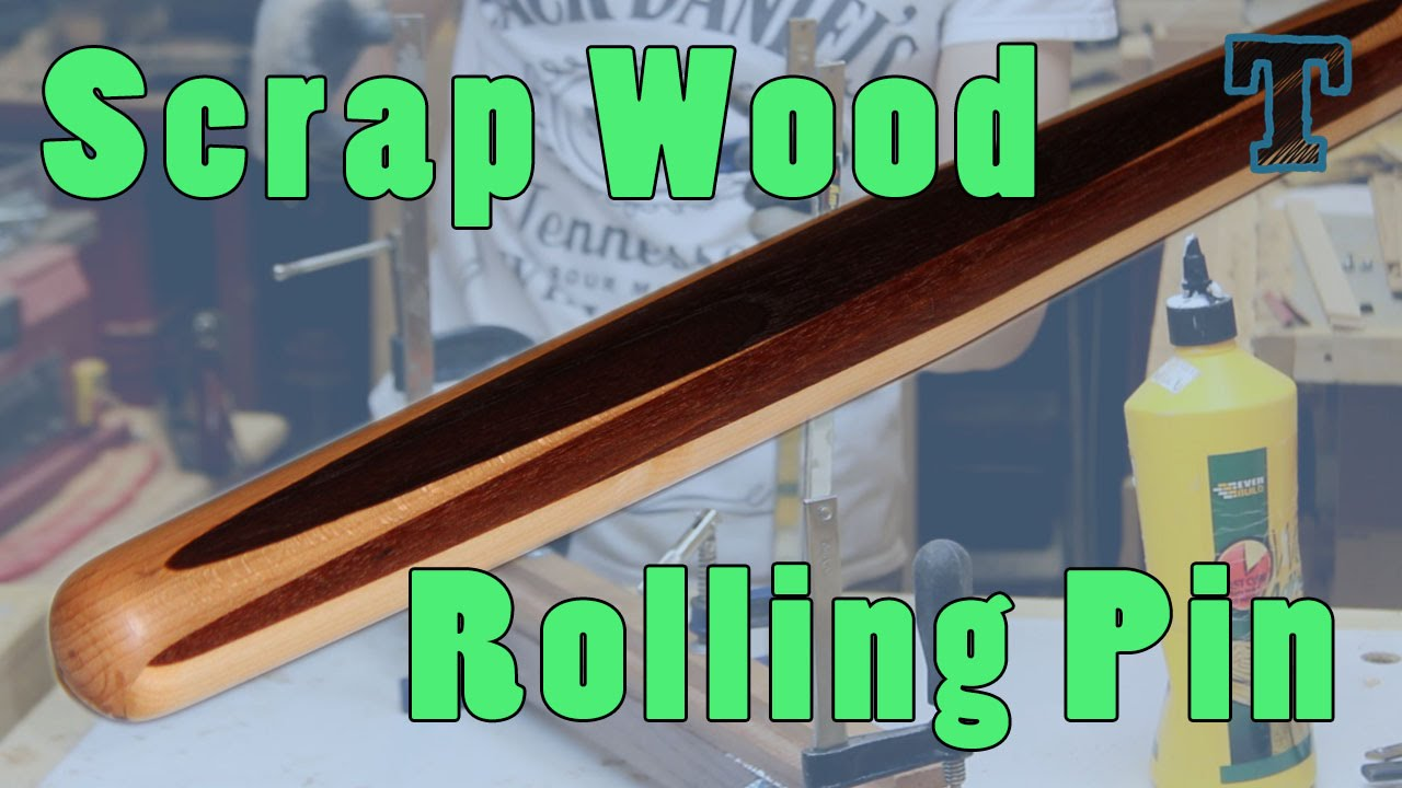 Scrap Wood Project Make A Pastry Rolling Pin Youtube