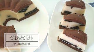Oreo Layer Agar-Agar Recipe (Milo Oreo Pudding) / Resepi Agar-Agar Milo Lapis Oreo
