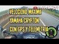 Motovlog #9-Yamaha Crypton lo que me gusta-velocidad maxima con gps(2018)
