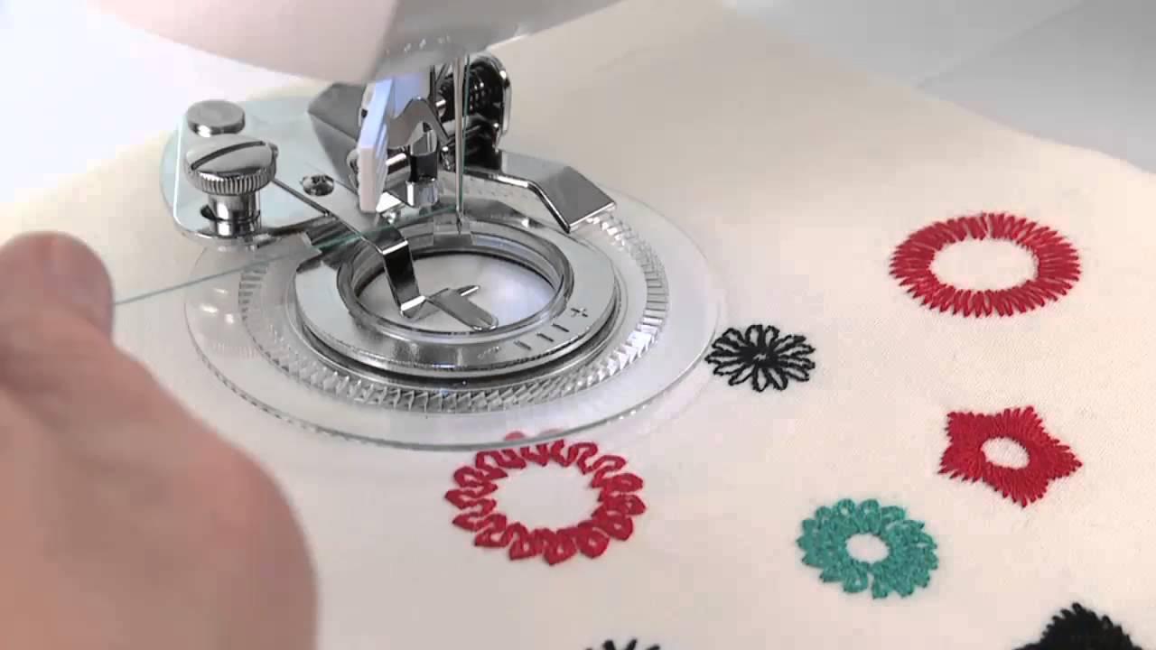 Singer Sewing Machine Flower Stitch Attachment Youtube