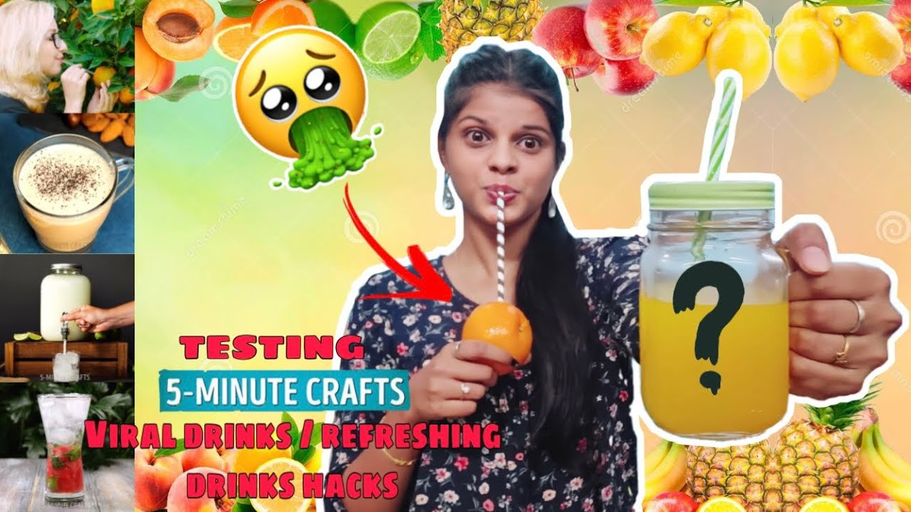TESTING OUT JUICE/REFRESHING DRINKS HACK by 5 minute crafts **Epic Fail** [TAMIL]
