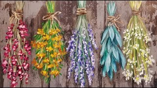 Easy Flowers and Herbs LIVE Beginner Step by Step Acrylic Painting Tutorial