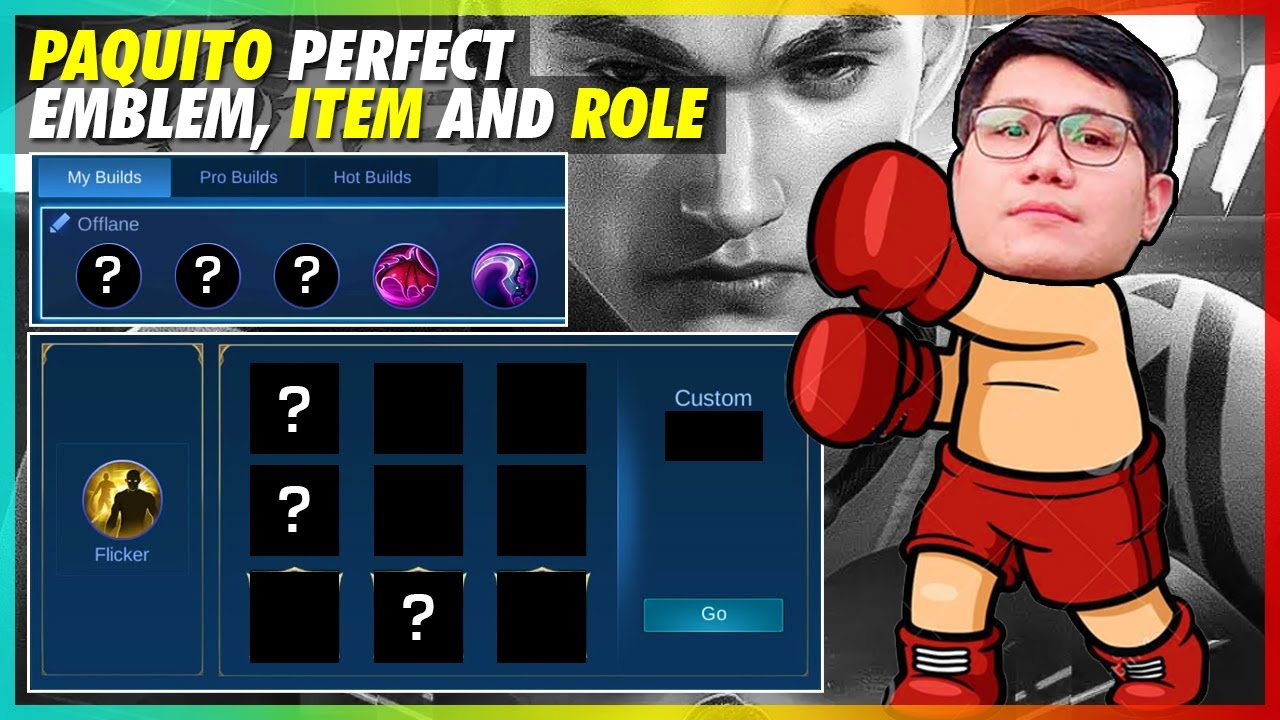 PERFECT EMBLEM, ITEM, AND ROLE OF PAQUITO! | MLBB NEW HERO