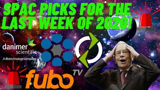 Today i discuss my favorite 3 spacs that am looking at for the last week of 2020 and a bonus stock end! please watch full video, if you enjo...