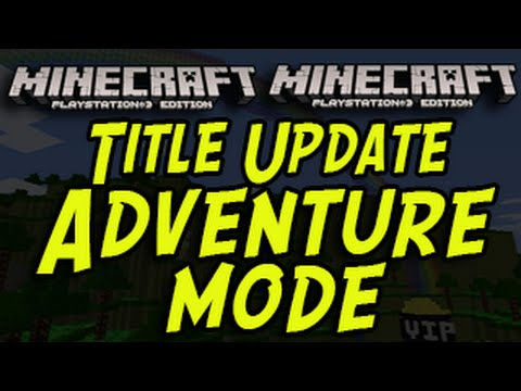 Minecraft (PS3, PS4, Xbox) - NEW GAME MODE - Adventure Mode - Title Update - YouTube